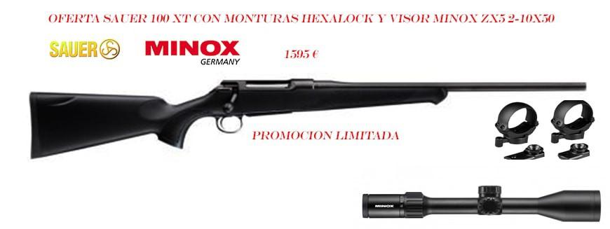 Promocion Sauer 100 con monturas y visor Minox